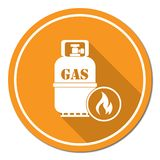 Camping stove with gas bottle icon vector Royalty Free Stock Photos