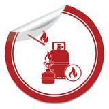Camping stove with gas bottle icon vector Royalty Free Stock Image