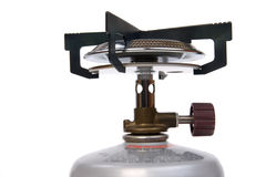 Camping stove gas burner Royalty Free Stock Photography