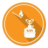 Camping stove icon Royalty Free Stock Image