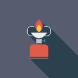Camping stove vector illustration