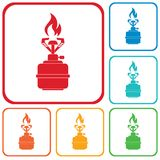 Camping stove icon vector Royalty Free Stock Photo