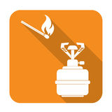 Camping stove icon Stock Photo