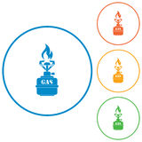 Camping stove icon vector Royalty Free Stock Image