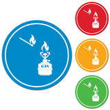 Camping stove icon vector Stock Photos