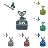 Camping stove icon Royalty Free Stock Photography
