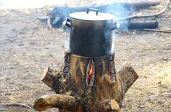 Camping stove Stock Image