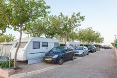 Camping street Stock Photo