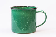 Camping style metal coffee cup Royalty Free Stock Images