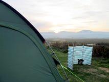 Camping sundown. Stock Image