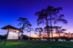 Camping in the sunset sky Stock Photography