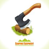 Camping symbol axe Stock Photo