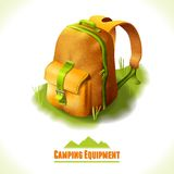 Camping symbol backpack Royalty Free Stock Photography
