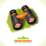Camping symbol binocular Royalty Free Stock Photo