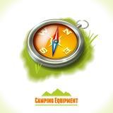 Camping symbol compass Royalty Free Stock Photos