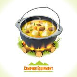 Camping symbol food pot Stock Photo