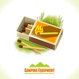 Camping symbol matches Royalty Free Stock Image