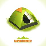 Camping symbol tent Royalty Free Stock Images