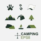 Camping symbol Royalty Free Stock Photo
