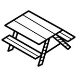 Camping table icon. Vector illustration vector illustration