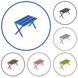 Camping table icon Stock Images