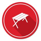 Camping table icon Royalty Free Stock Photos