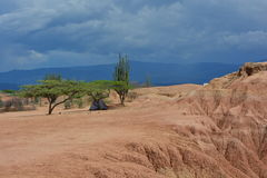 Camping in the Tatacoa desert, in Neiva, Colombia. Camping in the Tatacoa desert, one of the touristic destinations in Colombia stock photo