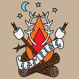 Camping Tattoo Royalty Free Stock Photography