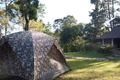 Camping Tent. Group of Camping Tent in Campsite Royalty Free Stock Photo