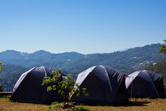 Camping Tent. In in northern mountain Thailand stock photo
