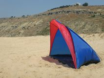 Camping tent on the beach Royalty Free Stock Image