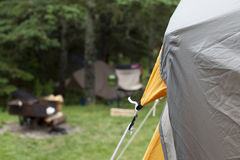 Camping tent and camp lot Royalty Free Stock Images