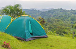 Camping tent in campground at national park Stock Photo