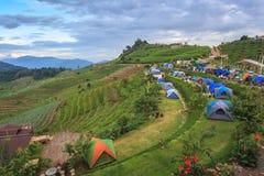 Camping tent stock photos