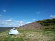 Camping tent on the hill,Iceland. Stock Image