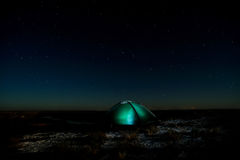 Camping tent. Royalty Free Stock Image