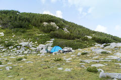 Camping tent in Mountain Stock Photography