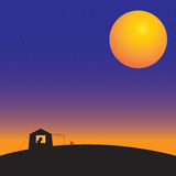 Camping. This is camping tent on the mountain in the dark night Royalty Free Stock Photo