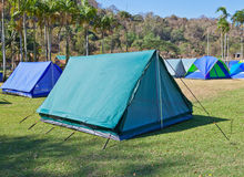 Camping tent in the mountains Royalty Free Stock Image