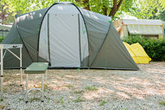 Camping tent in nature in summertime Royalty Free Stock Images