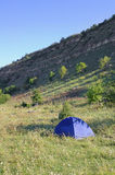 Camping tent outdoors Stock Photography