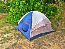 Camping tent in Pulau Ubin, Singapore Stock Photo