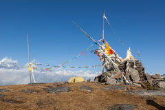 Camping tent on the top of the Pikey Peak. Royalty Free Stock Photos