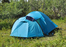 Camping tent. Stock Photos