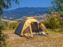 Camping Tent Valley Royalty Free Stock Photos