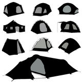 Camping tent vector Royalty Free Stock Photos