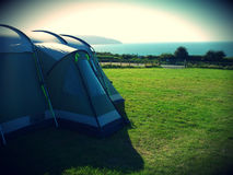 Camping Tent West Wales Royalty Free Stock Image