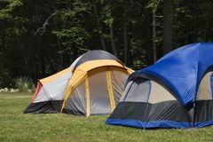 Camping Tents. In the Mountains stock photography