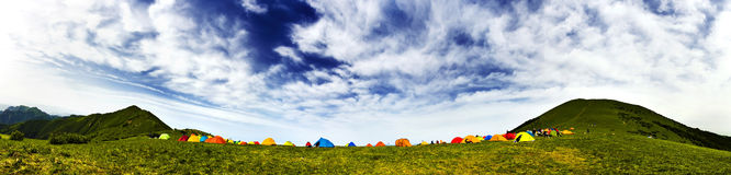 Camping tents Stock Image