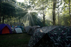 Camping tents at a camp site Stock Image